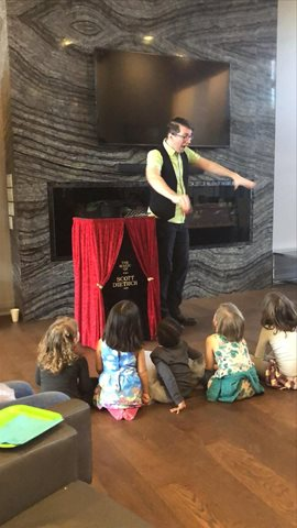 Amazing magic show that kids and adults loved.